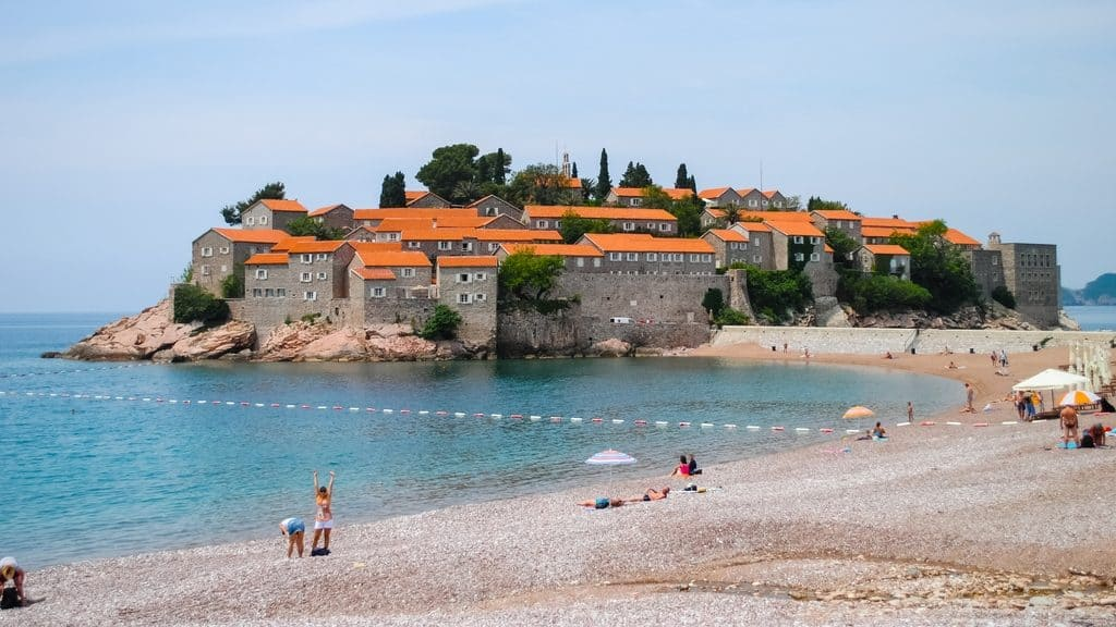 Beautiful and romantic island of Sveti Stefan