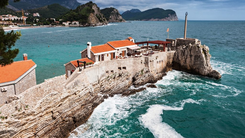 Fort on the island in Petrovac, Montenegro