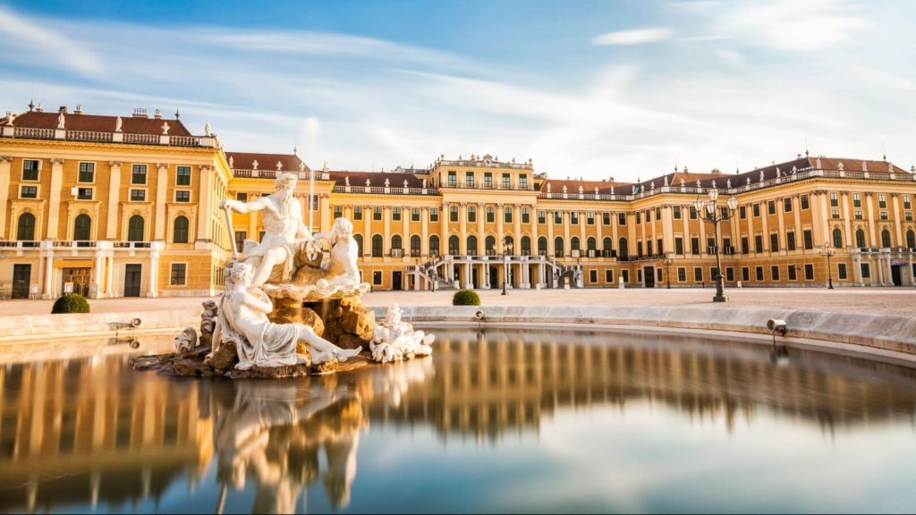 Beautiful Schonbrunn palace in Vienna, Austria