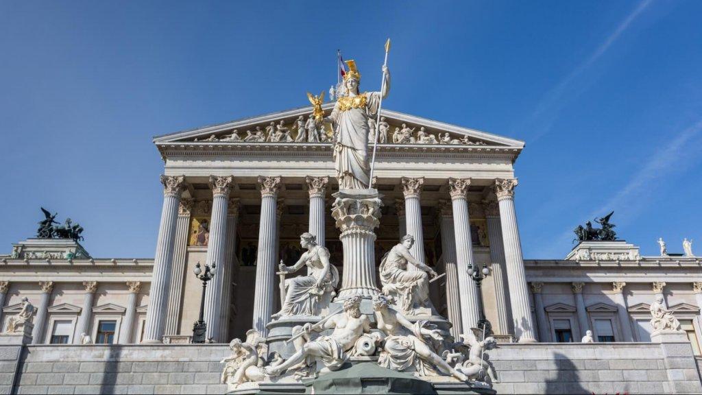 Parliament Building Exterior in Wien